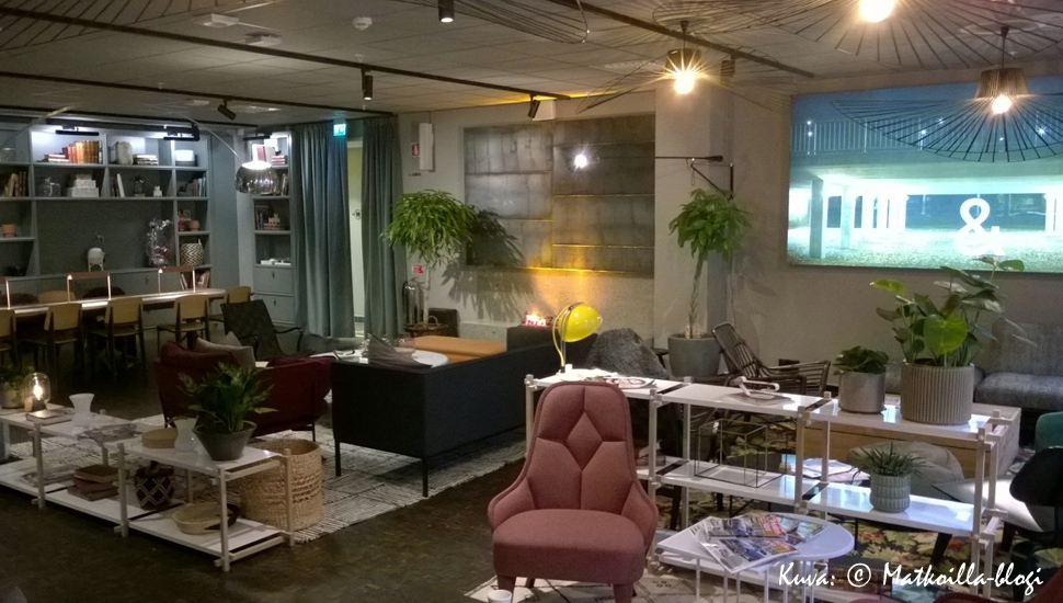 &Hotel, Tukholma: Olohuonemainen lounge. Kuva: © Matkoilla-blogi