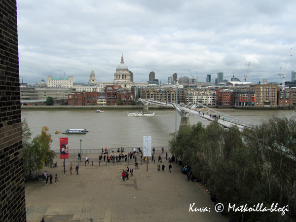 Thames Tate Modernin terassilta, Lontoo. Kuva: © Matkoilla-blogi