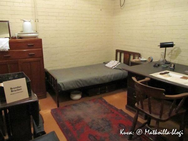 Churchill War Rooms - Brendan Brackenin makuuhuone, Lontoo. Kuva: © Matkoilla-blogi