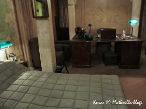 Churchill War Rooms - Winston Churchillin makuuhuone, Lontoo. Kuva: © Matkoilla-blogi