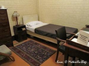 Churchill War Rooms - Walter Thompsonin makuuhuone, Lontoo. Kuva: © Matkoilla-blogi