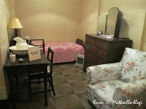 Churchill War Rooms - Clementine Churchillin makuuhuone, Lontoo. Kuva: © Matkoilla-blogi