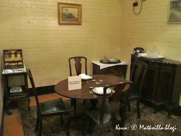 Churchill War Rooms - ruokasali, Lontoo. Kuva: © Matkoilla-blogi