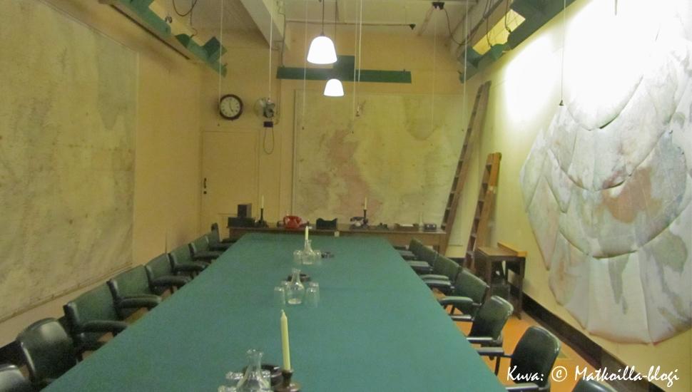 Churchill War Rooms - tilannehuone, Lontoo. Kuva: © Matkoilla-blogi
