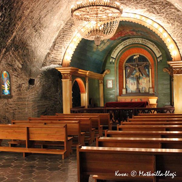 Kaivoksessa on Pyhän Kingan kappelin lisäksi myös useita muitakin kappeleita, joista yksi on Pyhän Ristin kappeli. Kuva: © Matkoilla-blogi