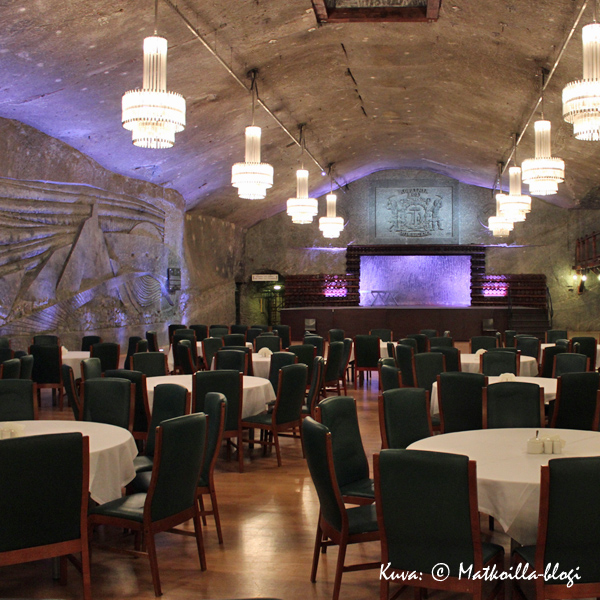 Wieliczkan suolakaivos - bankettisali. Kuva: © Matkoilla-blogi