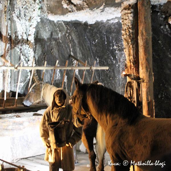 Kaivoksessa on aikoinaan ollut hevosiakin töissä; näillä oli kaivoksessa oma tallikin. Kuva: © Matkoilla-blogi
