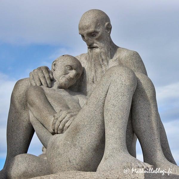 Oslo, Vigelandsanlegget: Kuoleva nainen