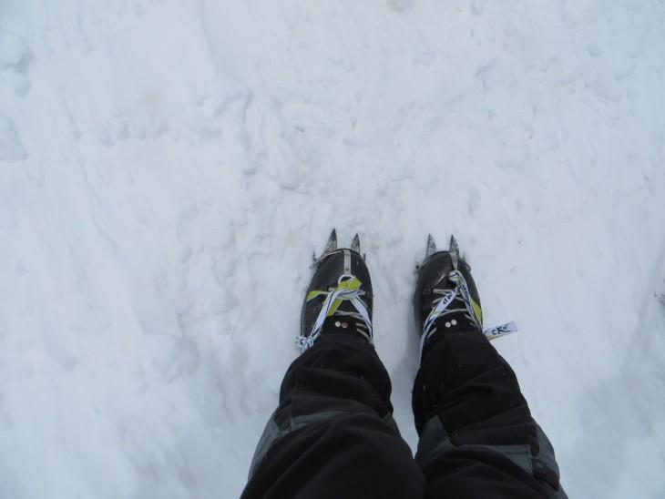 Jääraudat kengissä ensmmäistä kertaa