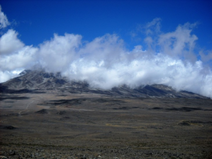 Clouds above Kilimanjaro