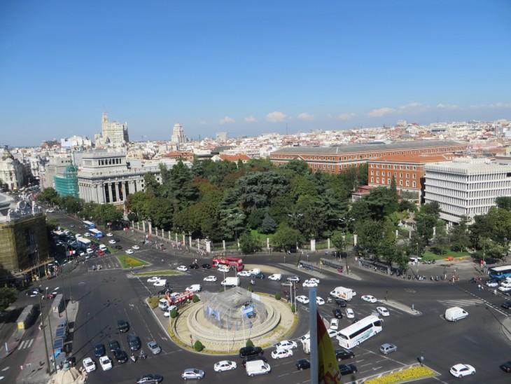 La vista de Plaza Cibeles