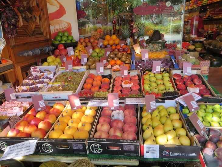 Fruites en el mercado