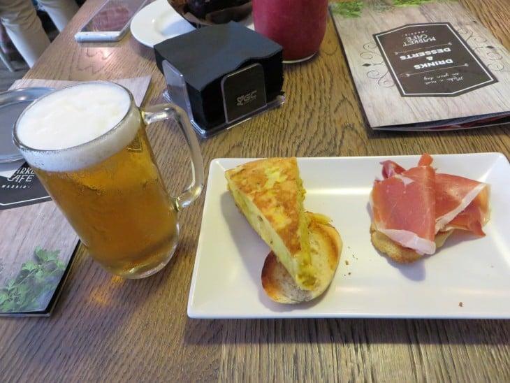 Tapas y la cerveza