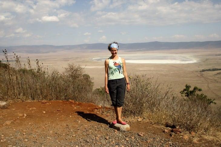Merja Ngorongoron näköalapaikalla
