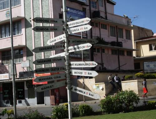 Etäisyydet Arushasta