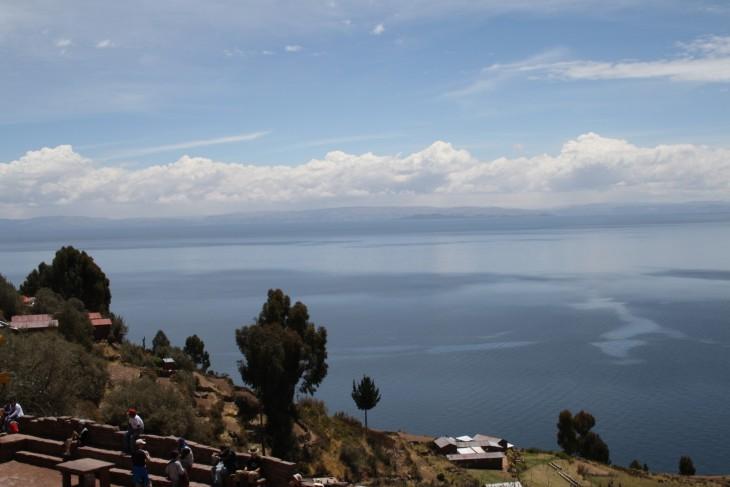Näkymä Taquile saarelta Titicaca järvelle