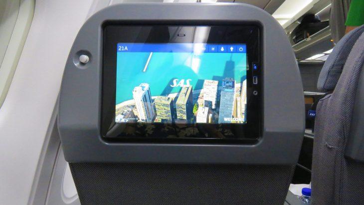 SAS Plus matkustusluokan näyttö