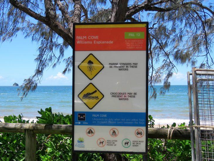 palm-cove-varoituskyltti