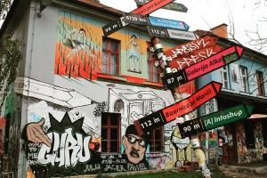 Cool street art in Metelkova district in Ljubljana Spotted thishellip