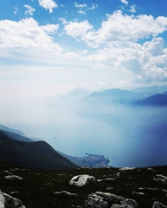 Incredibly beautiful view to Lake Garda from the top ofhellip
