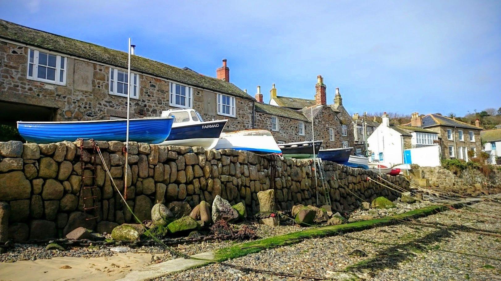 Cornwall rannikko kokemuksia mousehole kylä