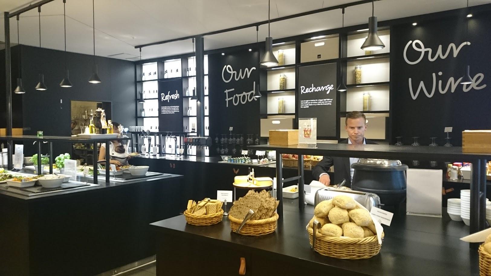 SAS Lounge Tukholma lentokenttä lounge priority pass diners club