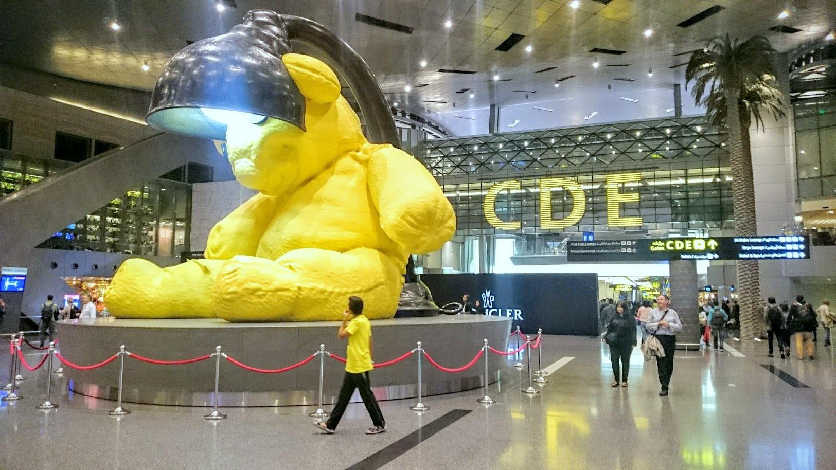 Doha Hamad International Airport lentokenttä lennonvaihto välilasku