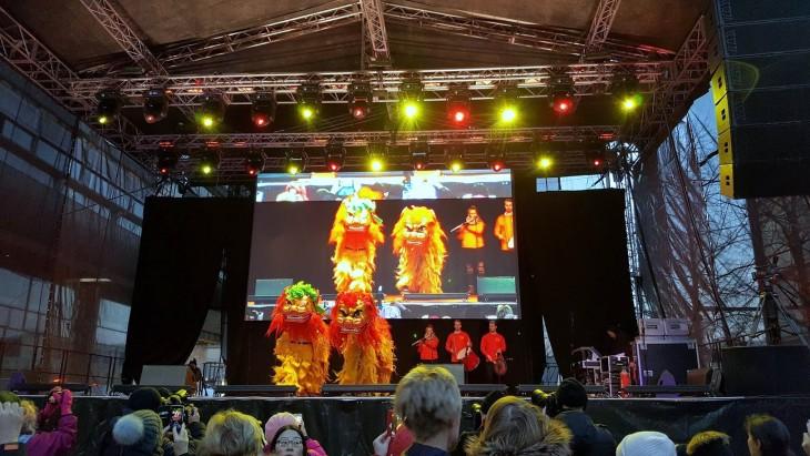 Kiinalainen uusivuosi leijonat