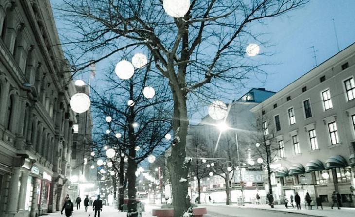 Tampere jouluvalot hämeenkatu instagram