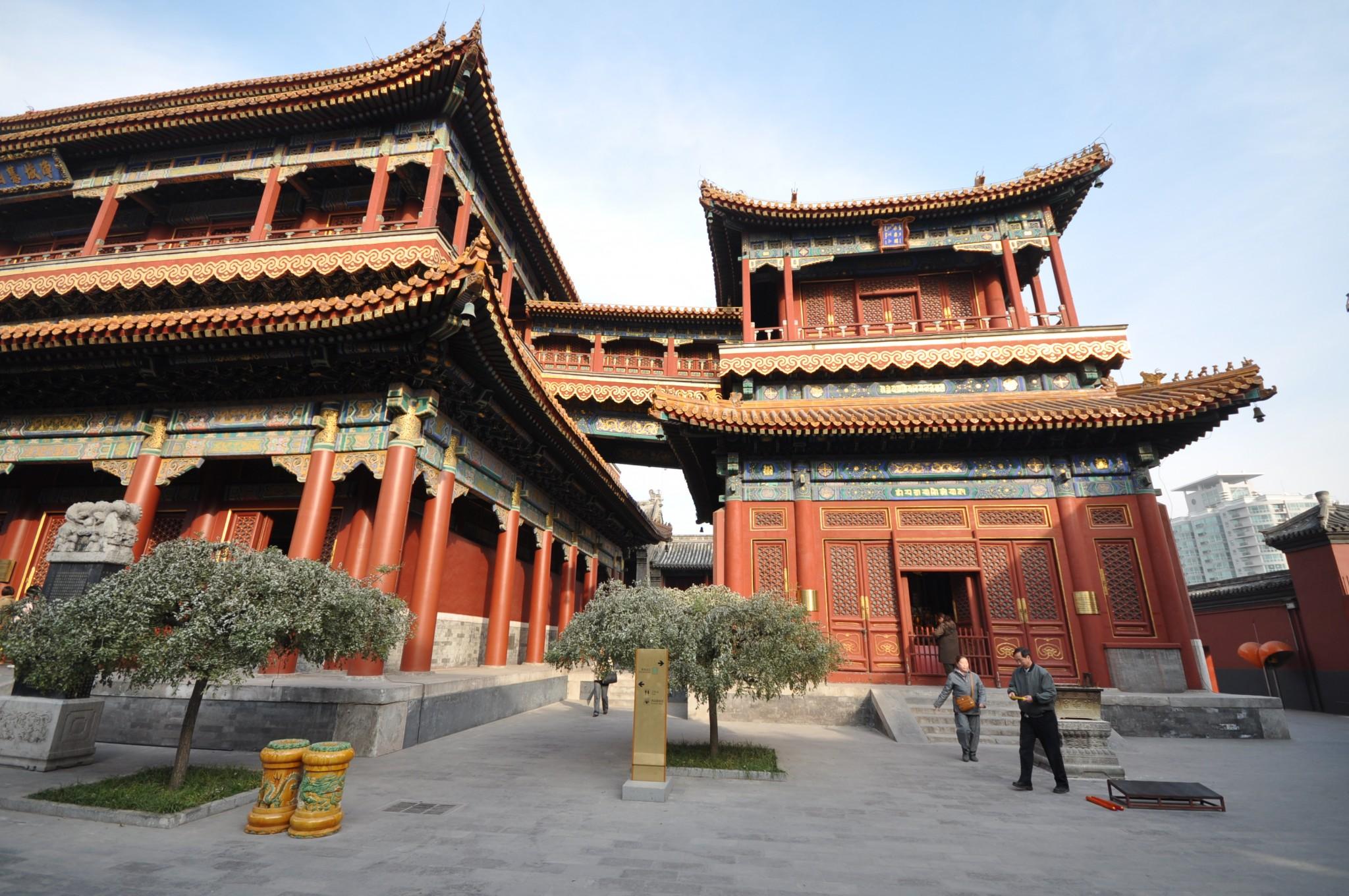Lama_temple peking nähtävyydet temppeli