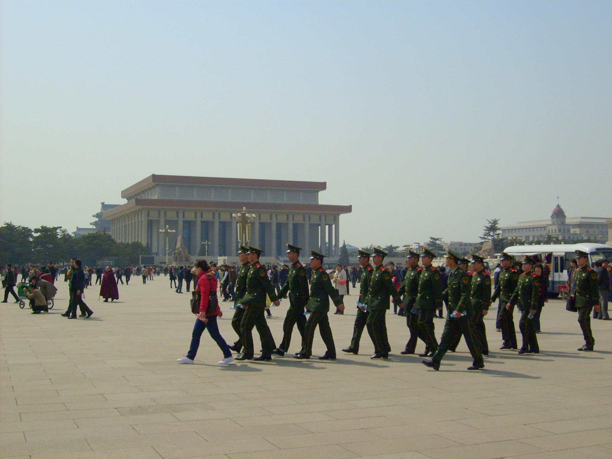 Tiananmen_aukio peking nähtävyydet taivaallisen rauhan aukio