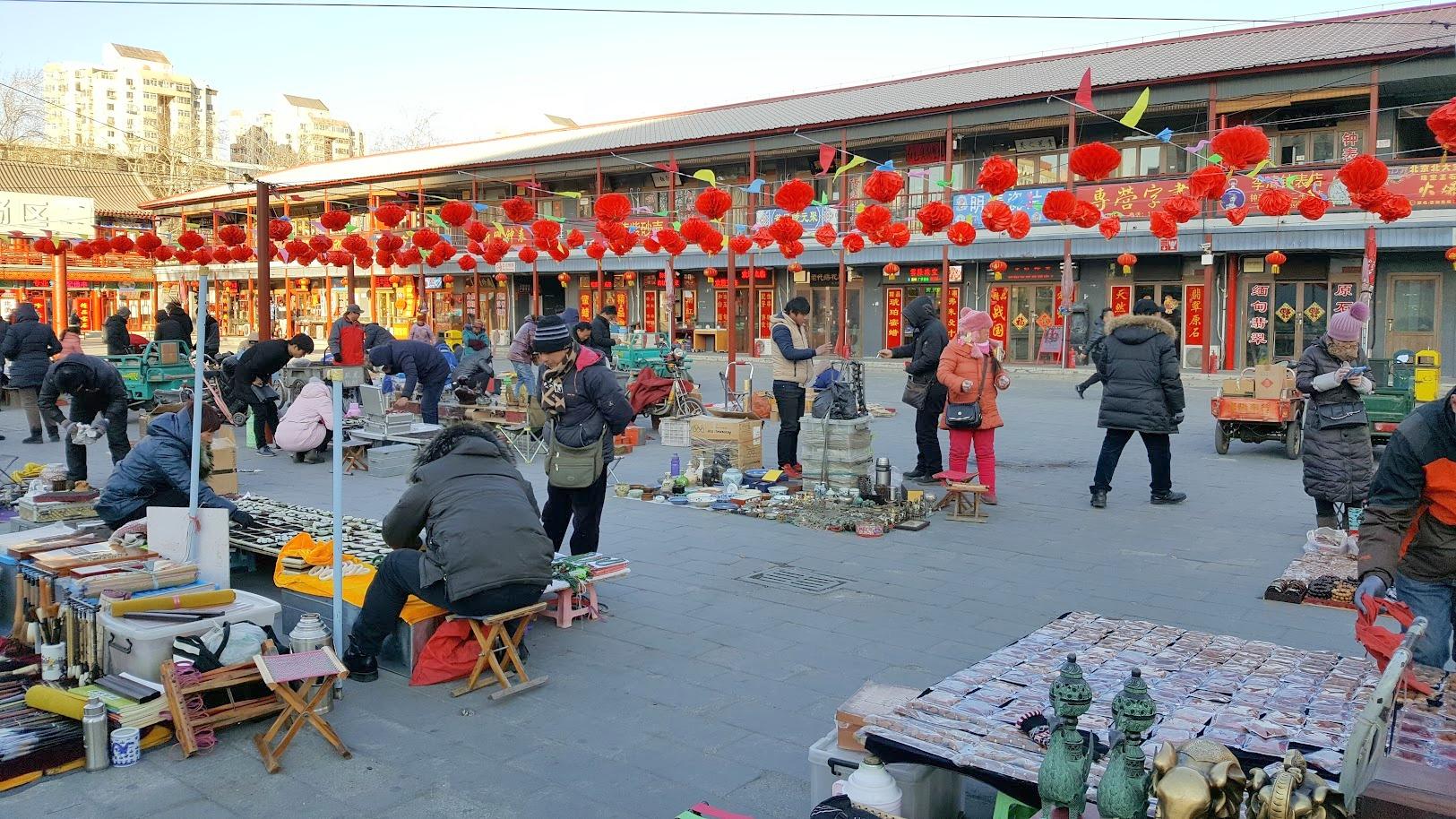 Panjiayuan_Peking_markkinat antiikkimarkkinat ostokset nähtävyydet kiina