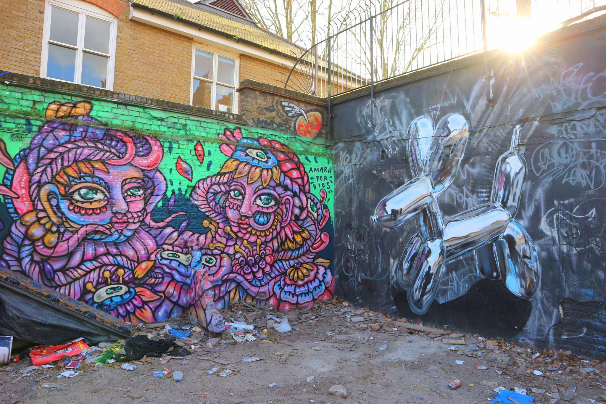 Brick Lane Lontoo nähtävyydet katutaide street art