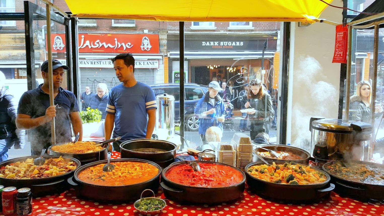 Brick Lane Lontoo nähtävyydet markkinat