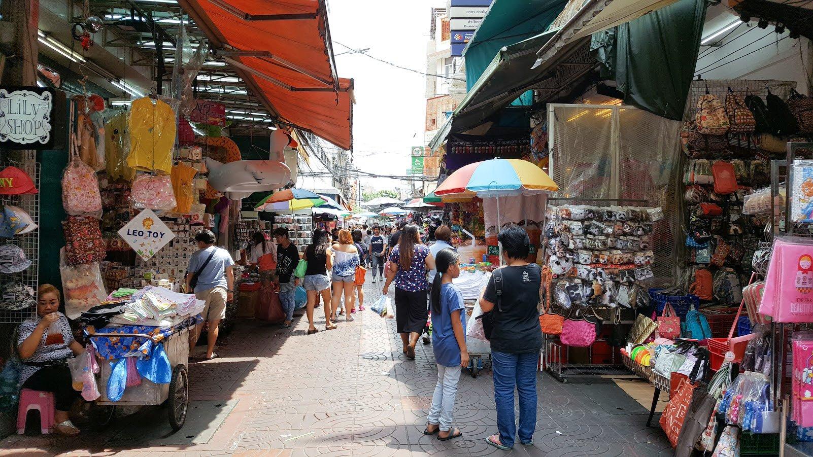 Bangkok Chinatown markkinat