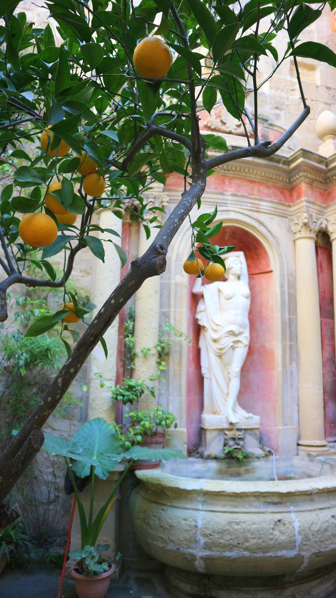 Malta Valletta palatsi puutarha