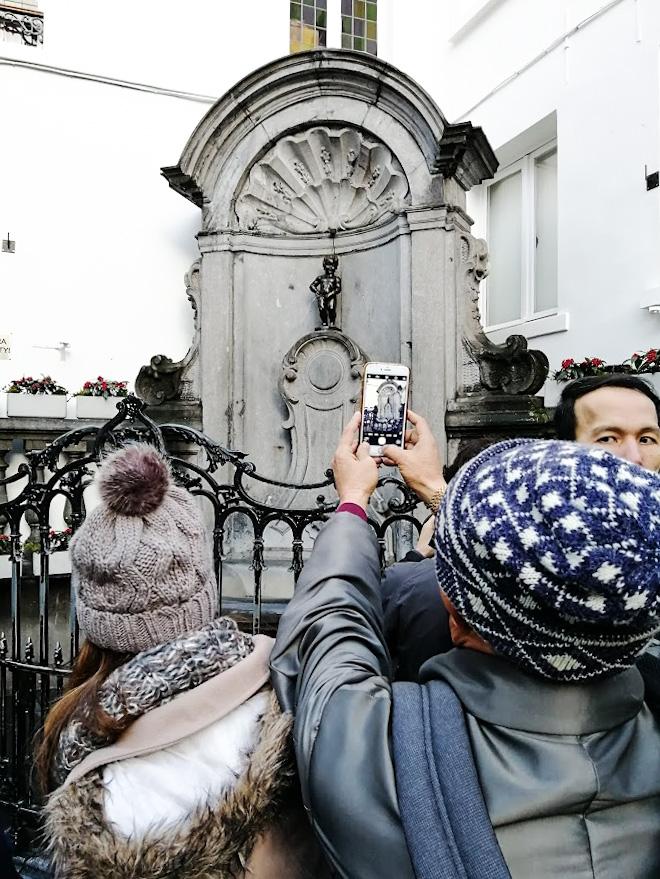Manneken Pis Bryssel nähtävyydet
