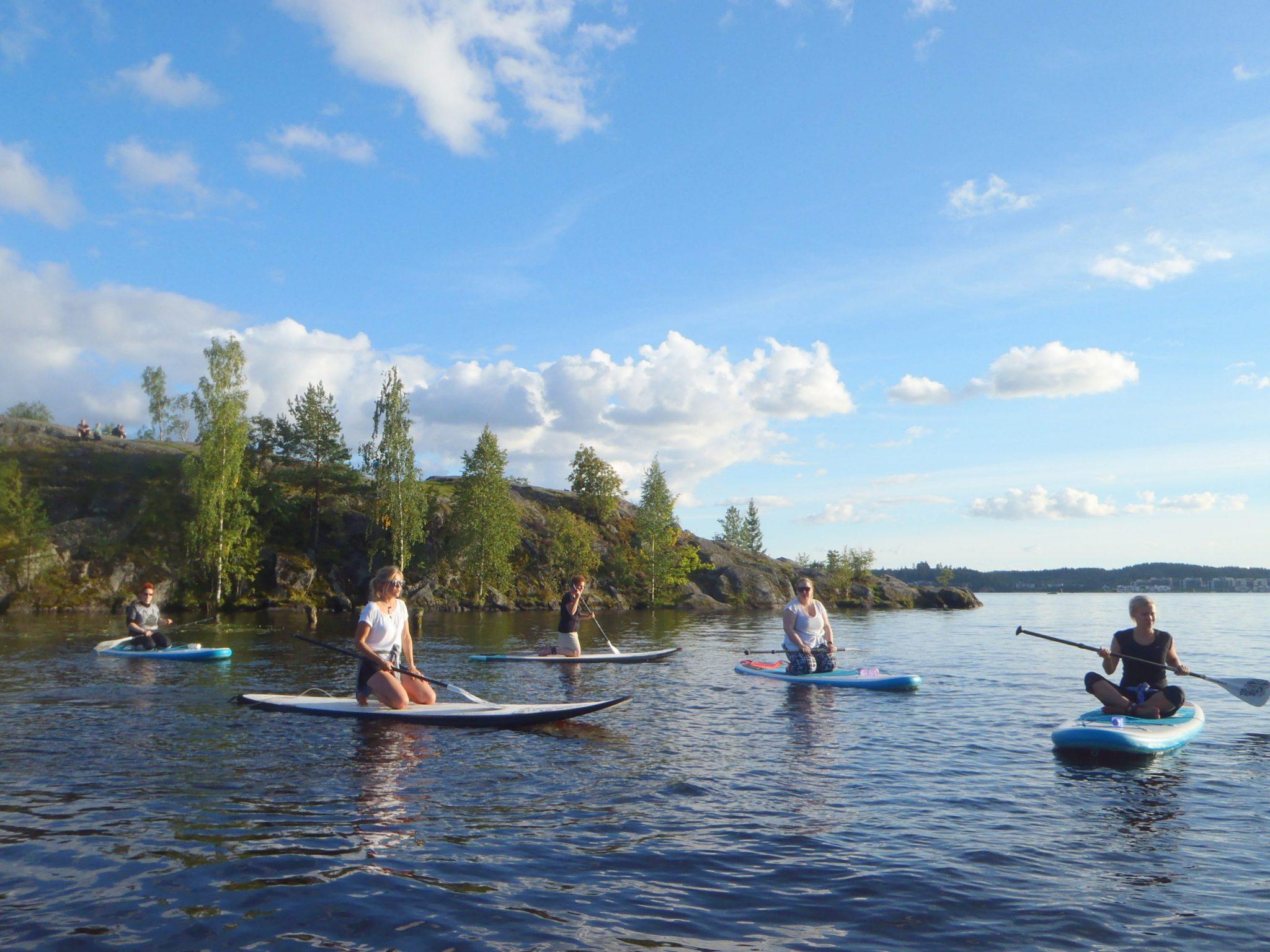 tekemistä Tampereella kesä uimaranta suppailu