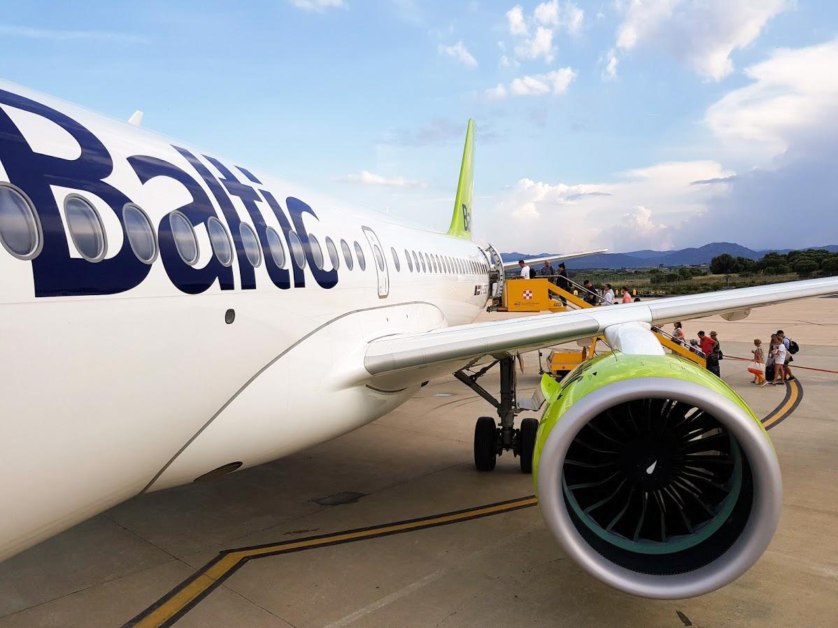 airbaltic lentokone businessluokka