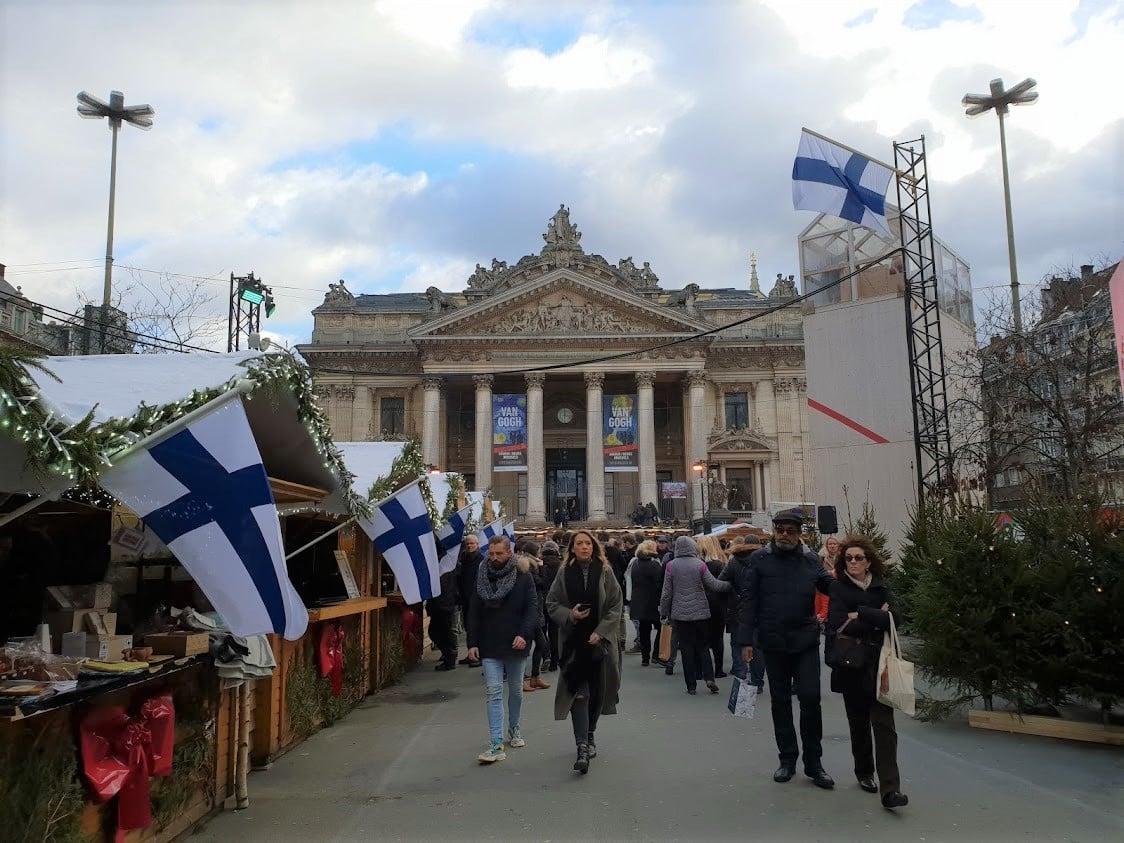 bryssel belgia joulumarkkinat joulutori nähtävyydet