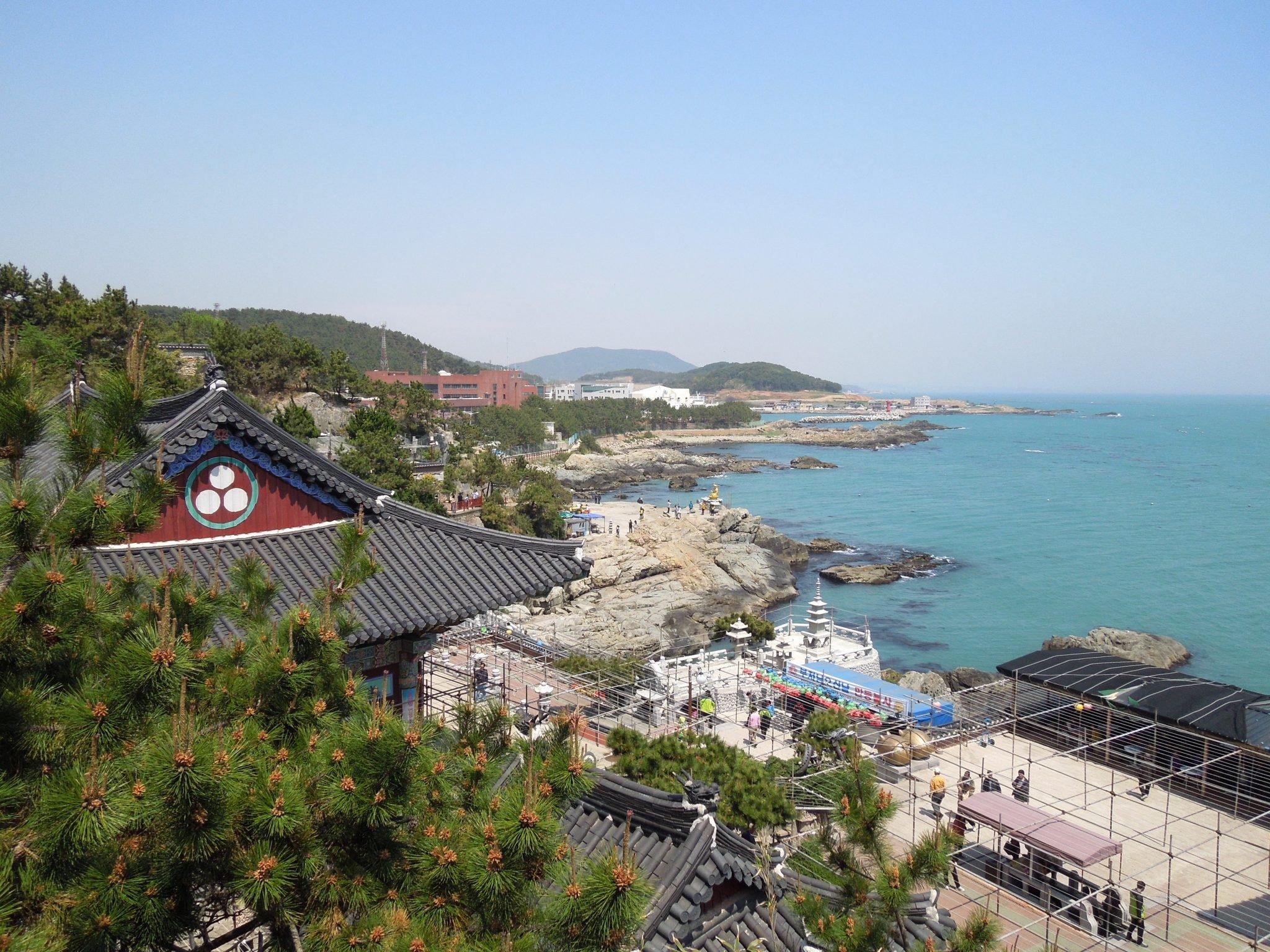 Yonggungsa Temple Busan nähtävyydet Etelä-Korea
