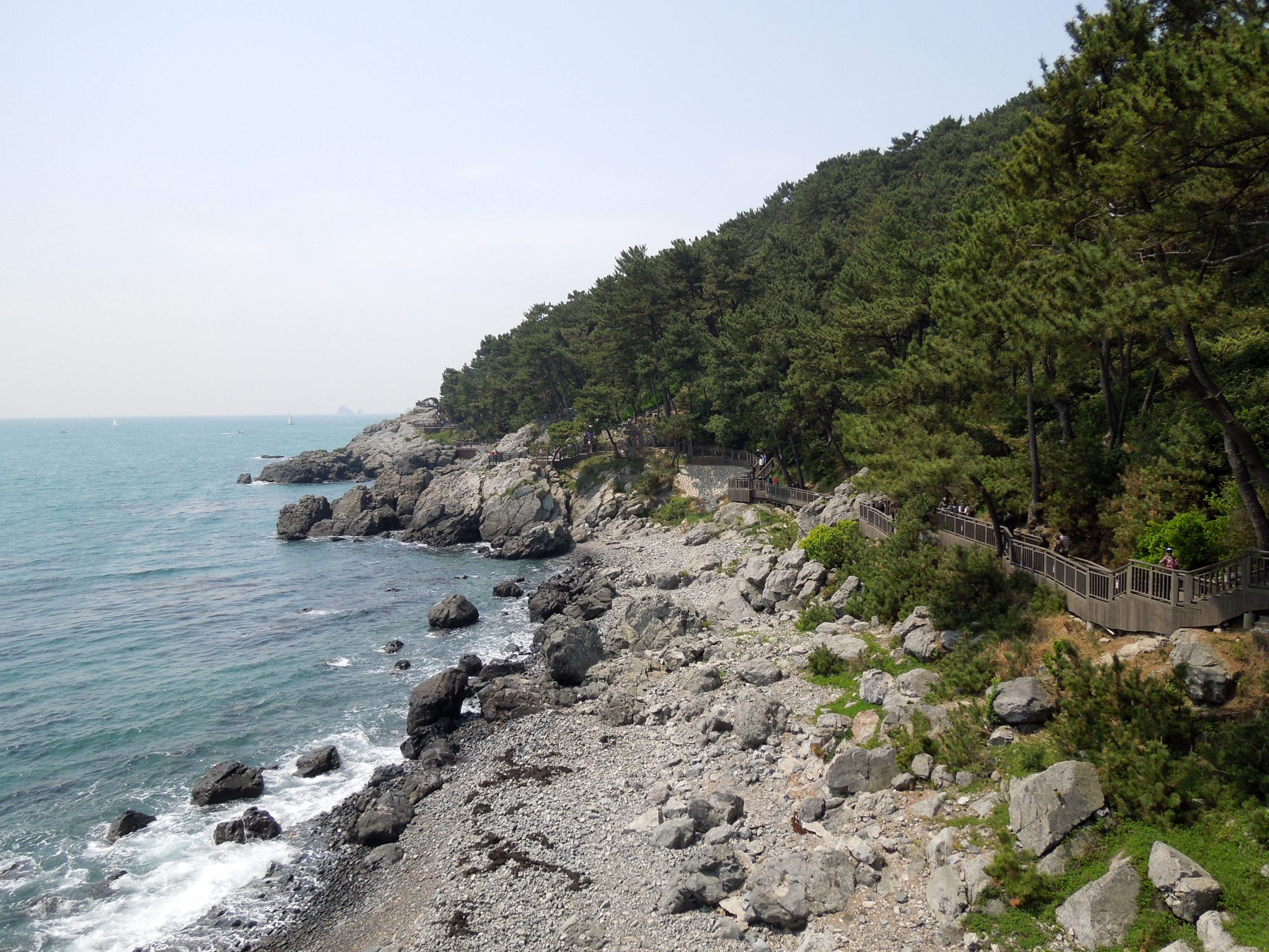 Busan nähtävyydet ranta Etelä-Korea