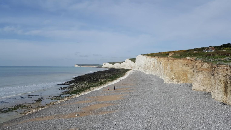 Seven Sisters kalkkikivikalliot nummet Englanti rannikko majakka