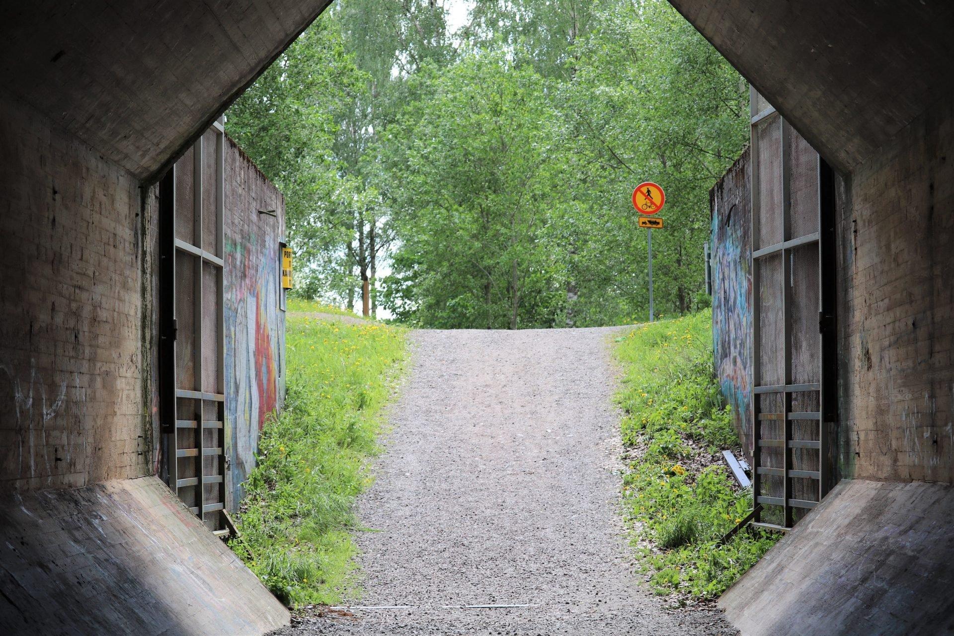 Pispala uittotunneli Tampere uittotunnelin kahvila