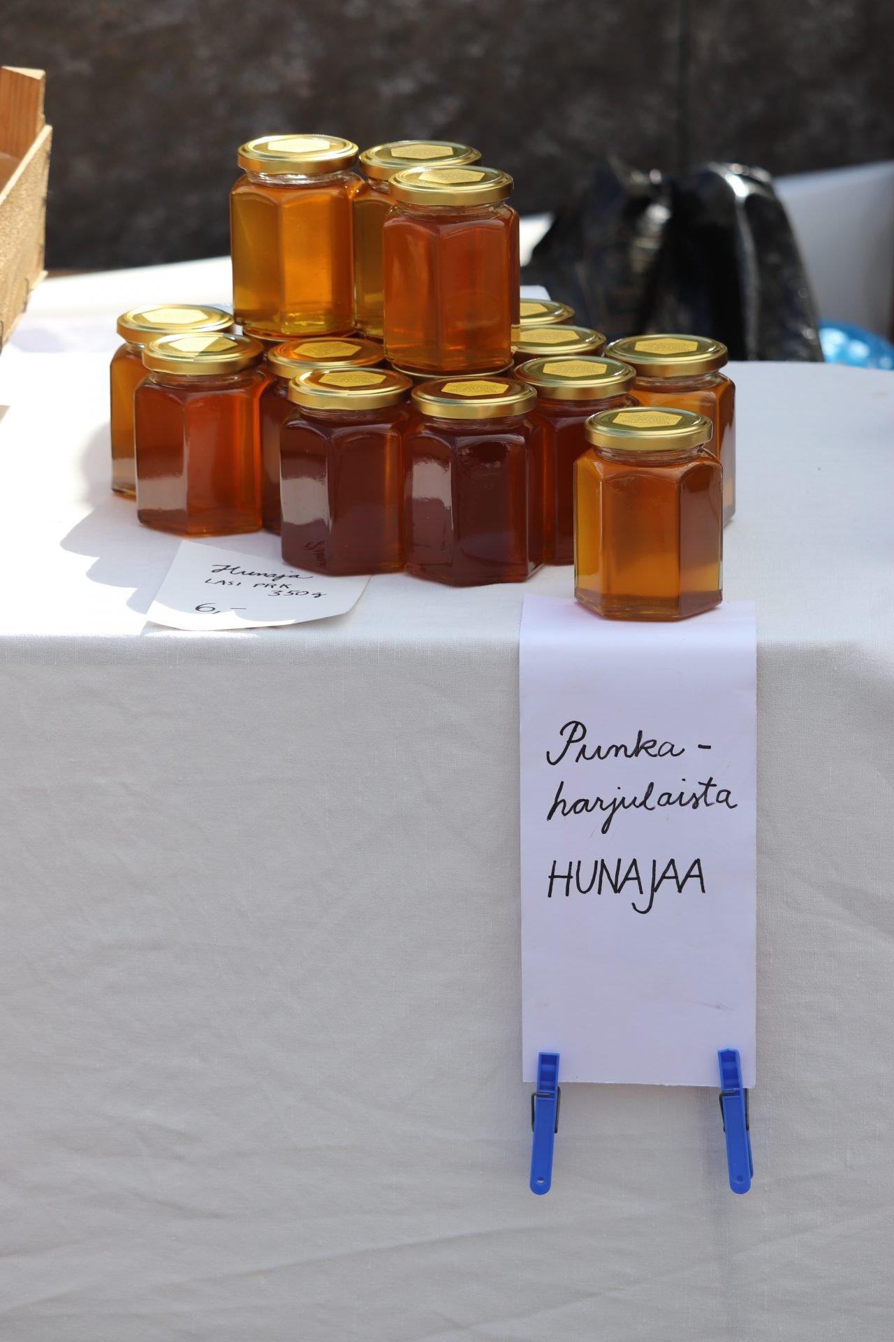 Savonlinna tori hunajapurkki