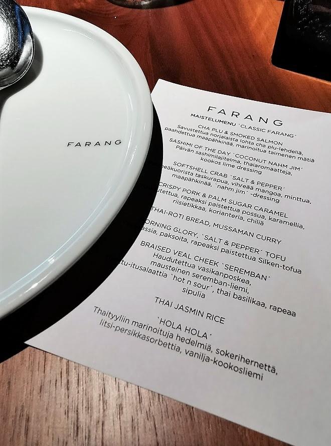 ruoka menu lautanen