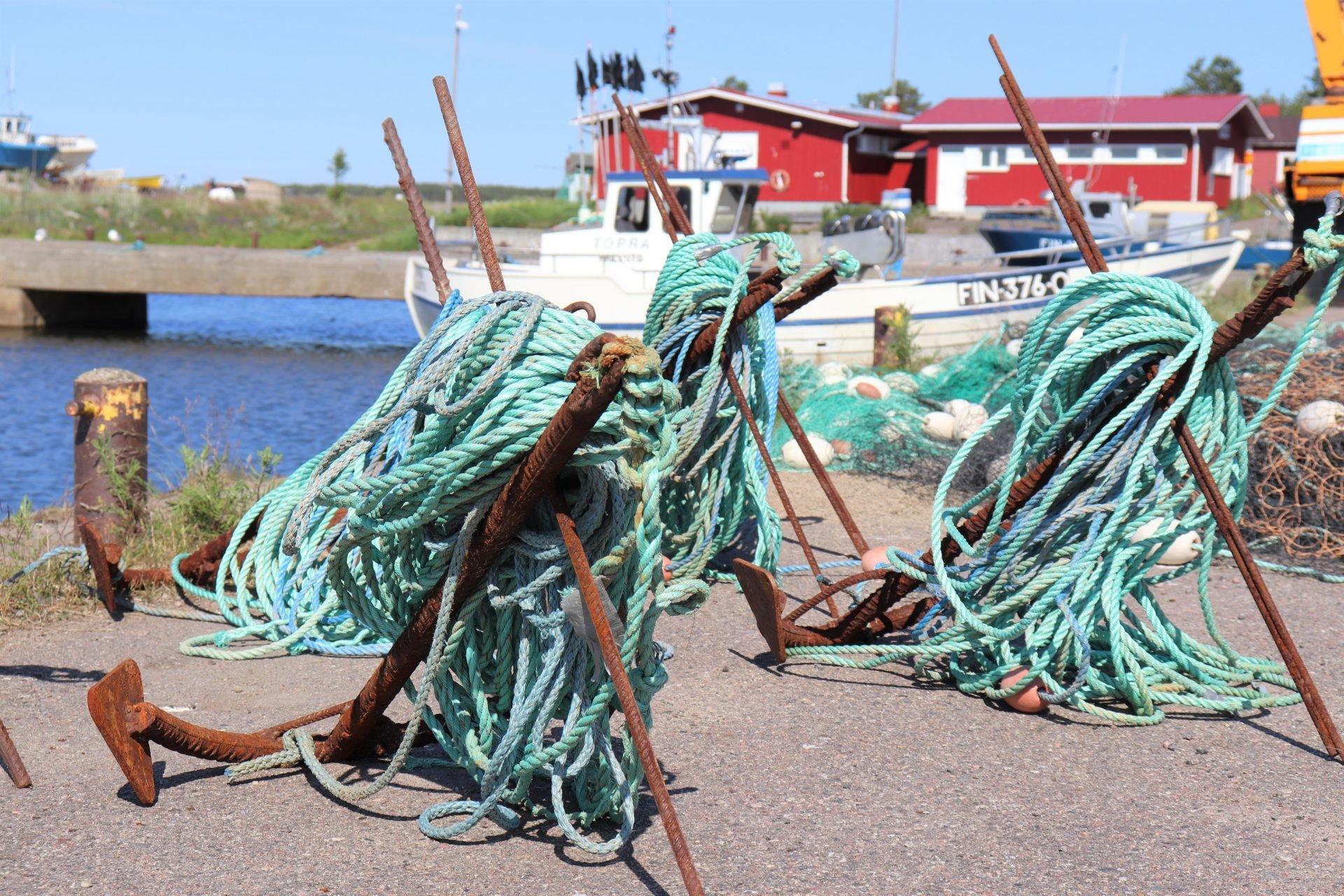 Hailuoto satama ankkuri kalaverkko