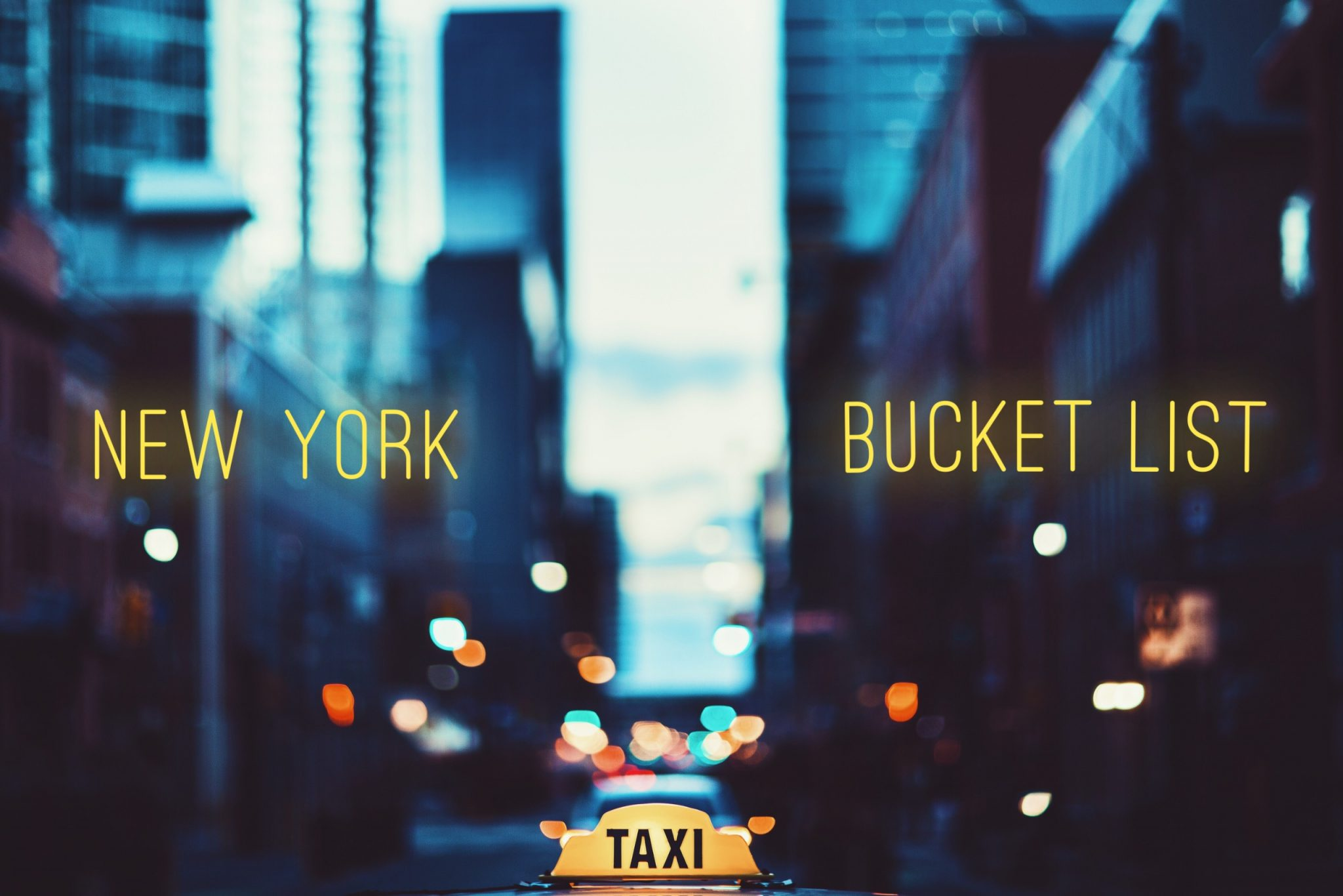 New York Bucket List