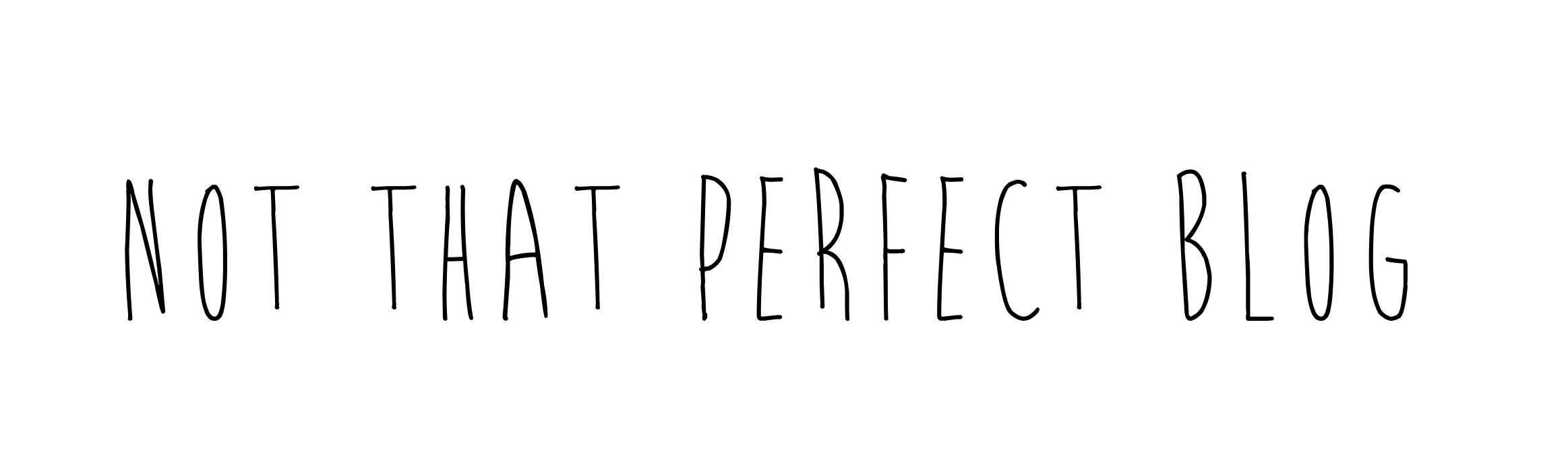 Not that perfect blog