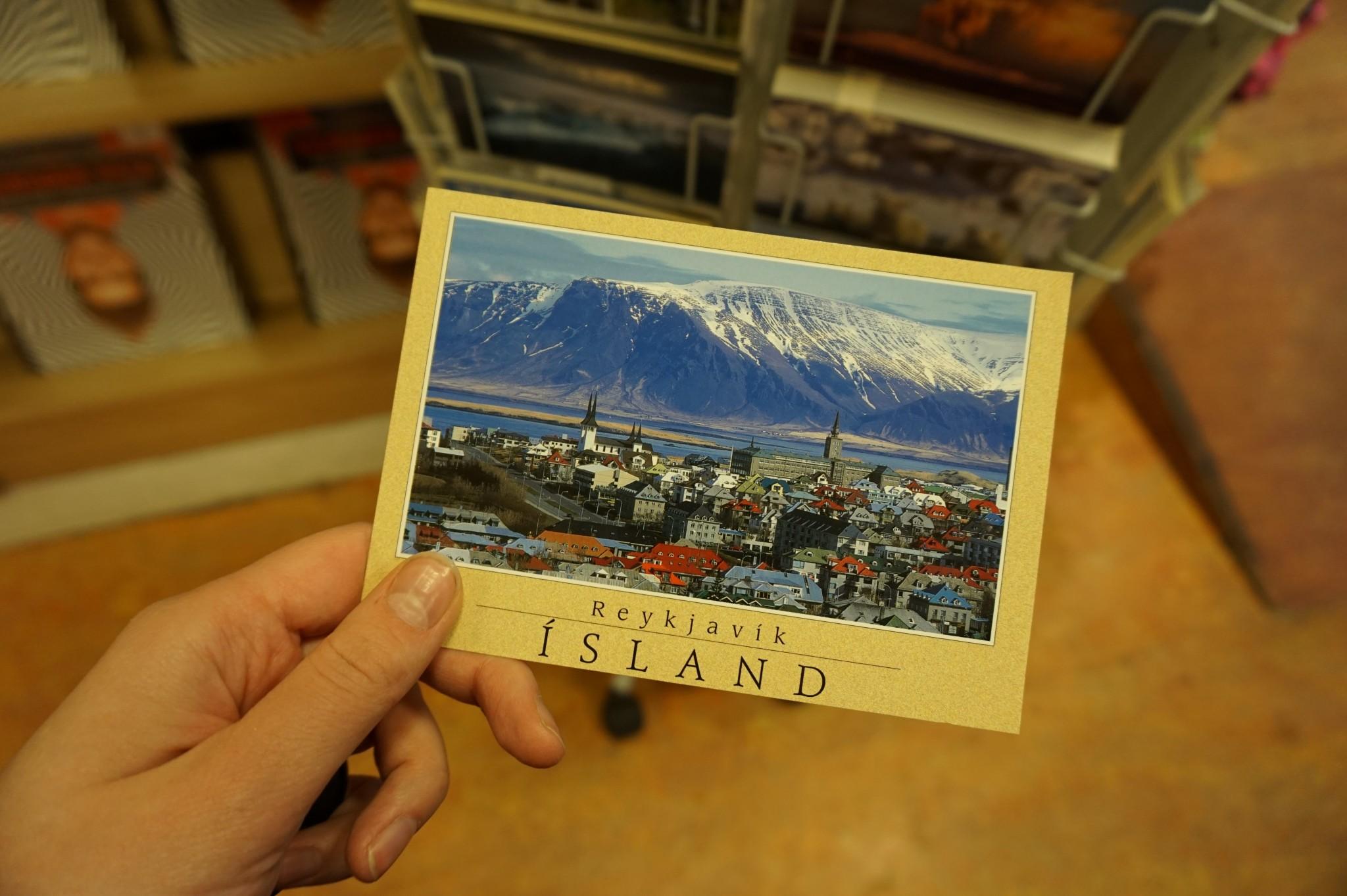 Postikortti Islannista